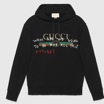 DCCKB62 Gucci Fashion Trending  Men Pullover Long Sleeve Sweater Blakc G-KWKWM