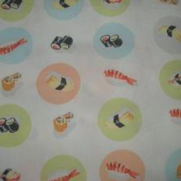 Heather Ross munki munki SUSHI fabric  HARD TO by topstitchstudio
