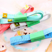 Useful Body Measuring Ruler Sewing Tailor Tape Measure Soft 60 Inch 1.5M Sewing Ruler Meter Sewing Measuring Tape Random Color