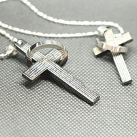 A pair of love lovers necklace,Black Cross necklace,couple necklace,lovers necklace,promise necklace