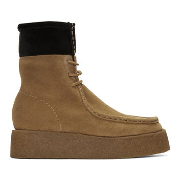 Tan Suede Selma Boots