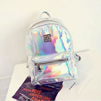 New Holographic Colorful Backpack