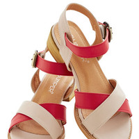 ModCloth Colorblocking Candy Shop Counter Sandal