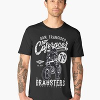 'Dragster CafeRacer Motorcycle' Men's Premium T-Shirt by hypnotzd