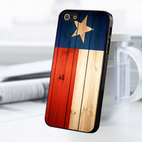 Wood Texas Flag iPhone 5 Or 5S Case