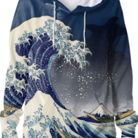 Great Wave: Kanagawa Night created by SonderSky | Print All Over Me