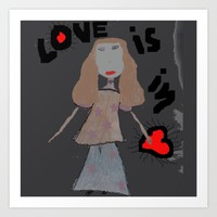 LOVE iS iN... Art Print by Azima