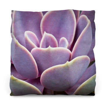 Sunset Succulent Outdoor Throw Pillow