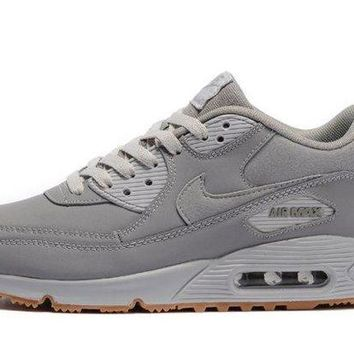 CHENEIR Cheapest Nike Air Max 90 Winter Premium Medium Grey Neutral Grey Men's Running Shoes Trainers