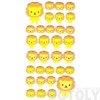 Simple Lion Animal Shaped Foam Plastic Stickers for Scrapbooking and Decorating