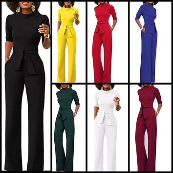 Retro Inspired Half Sleeved Jump Suit, Sizes Small - 2XLarge