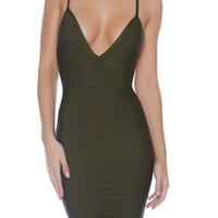 Paris Bandage Dress -  Khaki