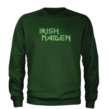 Irish Maiden ShamRocker Adult Crewneck Sweatshirt