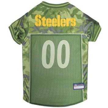 Chenier Pittsburgh Steelers Pet Camo Jersey
