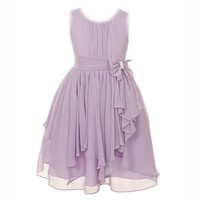 My Girl Dress Inc Girl's Elegant Short Chiffon Graduation Dress