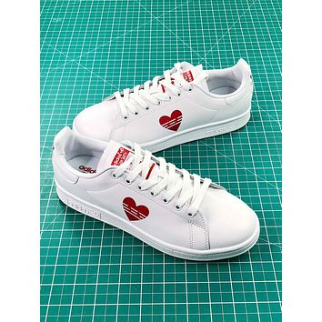 Adidas Stan Smith Valentine's Day Love White Shoes