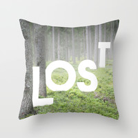 LOST Throw Pillow by Cafelab