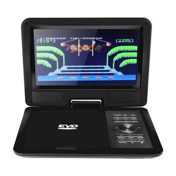 """9"""" 720P LCD HD DVD Player 270 Degree Swivel Screen Portable TV Game Player with USB/SD Card Reader/AV OUT/Car Charger/Gamepad/Remote Control EU Plug  (整体尺寸是11寸,屏幕尺寸是9寸)"""