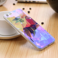 Blue Light Thin Soft TPU Case For iPhone 6 6s Case Shining Back Cover Clear Protective Accessories Cases For iPhone 6 Plus Capa