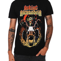 Asking Alexandria Skeleton Biker Slim-Fit T-Shirt | Hot Topic