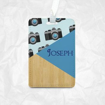 Camera icons Personalized Luggage Tag, Personalized Bag Tag, Personalized Backpack Tag, Personalized Kids Bag Tag, Personalized Gift