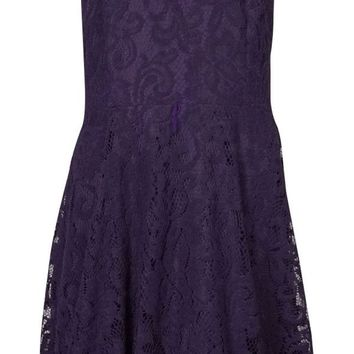 Betsy & Adam Women's Crochet Lace A-Line Dress