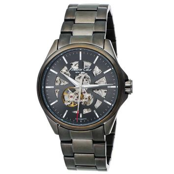 Kenneth Cole KC3863 Men's New York Gunmetal Ion Plated Skeleton Dial Automatic Watch