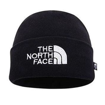 ONETOW The North Face Double Layers Winter Thicken Polar Fleece Thermal Beanie Hat (Black, On