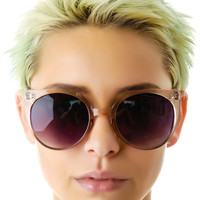 Quay Eyeware The Ksea Sunglasses Translucent Chocolate