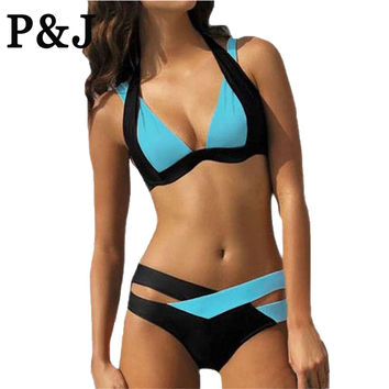 New Mix color sexy two piece adjust bust sexy women swimsuit bikini