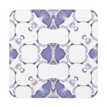 Purple Kaleidoscope Pattern #1 Coaster
