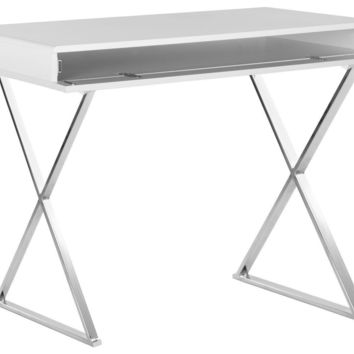 Gordon Desk White & Chrome