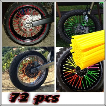 Motocross SPOKE SKINS Wheel RIM SPOKE SHROUDS COVERS for KAWASAKI CRF YZF r3 KX RMZ WR250 MX Dirt Bike ktm exc 250 t max 530 xjr