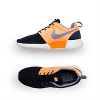 Nike Men's Roshe Run Premium - Obsidian-Orange | Platypus Shoes