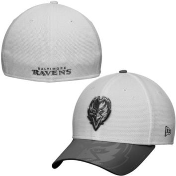 Baltimore Ravens New Era Series Gunner Two-Tone 39THIRTY Flex Hat – White