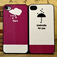 Rain-Umbrella for you iPhone Case for Couple