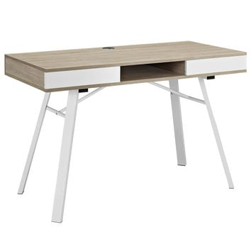 Stir Modern Office Desk in Oak / White