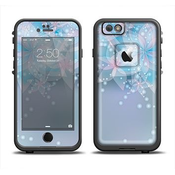 The Translucent Glowing Blue Flowers Apple iPhone 6 LifeProof Fre Case Skin Set