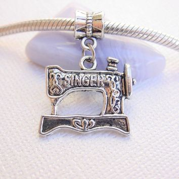 Singer Sewing Machine Charm Fits European Charm Bracelets Like Pandora