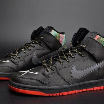 DCCKL8A Jacklish Spot X Nike Sb Dunk High Gasparilla Black/challenge Red-metallic Silver For Sale