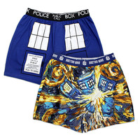 Doctor Who Van Gogh TARDIS Boxers 2-pack