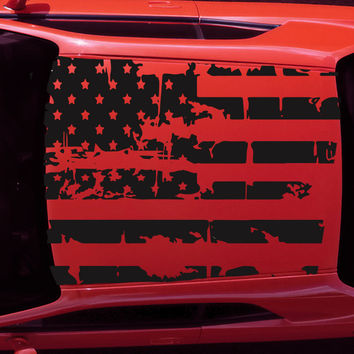 2015-2017 Dodge Challenger American USA Flag Roof Decal