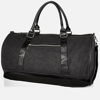 Black rubberised holdall bag - holdalls - bags - men