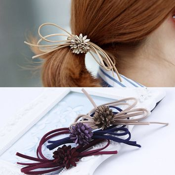 Women's Hair Bows Elastic Hair Bands For Women Cute Designers Pony Tail Holders Head Rope Hair Acceessories Hair Accessory