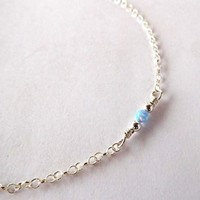 Fire Opal 925 Sterling Silver Dainty Anklet,Minimal Anklet | eBay