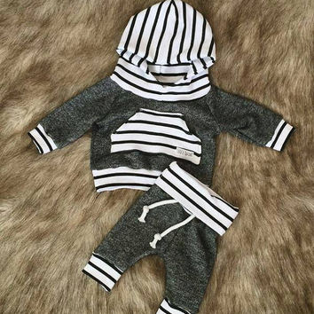 Baby jogger set / toddler jogger set / jogger / hoodie / charcoal hoodie / going home outfit / baby gift / newborn picture outfit / joggers
