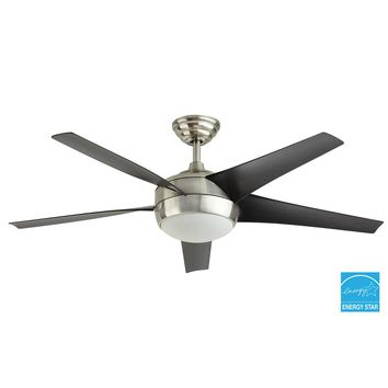 Home Decorators Collection Windward IV 52 in. Indoor Brushed Nickel Ceiling Fan with Light Kit and Remote Control-99963 - The Home Depot