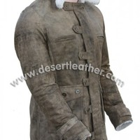 Tom Hardy Swedish Bomber Distressed Real Leather Bane Coat