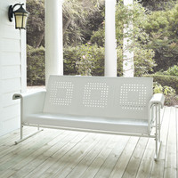 Crosley Veranda Sofa Glider In Alabaster White