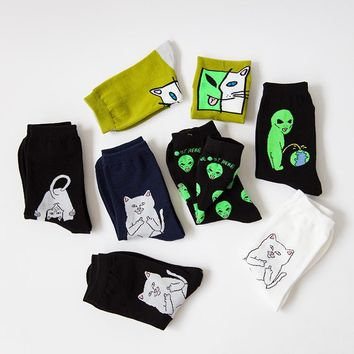 New Mid Crew Socks | Lord Normal Alien Cat ET Pop-Up Spaced WE OUT HERE.